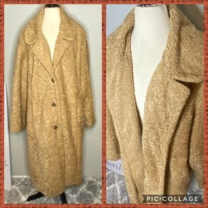 American Eagle Camel Teddy Trench Coat NWT Sz XXL